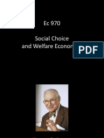 Ec 970 - Session 20 - Social Choice and Welfare Economics