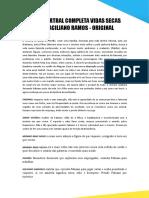 PEÇA TEARTRAL COMPLETA VIDAS SECAS DE GRACILIANO RAMOS - ORIGINAL