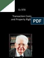 Ec 970 - Transaction Costs