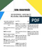 PEÇA TEATRAL - FEIRA DAS PROFISSÕES