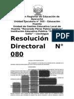 Resolucion directoral cambio de nombre