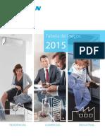 Tabela Precos DAIKIN 2015
