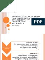 Ecología y Ecologismo