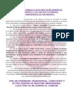 Declaracion Pública Colectivo Se Me Rompió El Condón, UV.