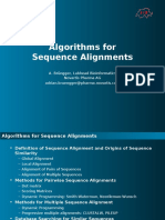 6789580 Sequence Alignment Methods and Algorithms
