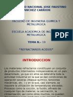 RFRACTARIOS ACIDOS