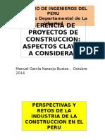 Gerencia de Proyectos de Construcción - Aspectos Claves
