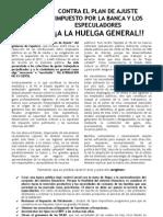 Panfleto Medidas ZP Contra Los Trabajadores