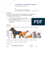 Varianza, Desviación Estándar y Coeficiente de Variacion