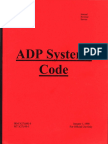 ADP Systems Code, Form #09.025