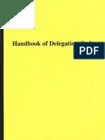 Handbook of Delegation Orders, Form #09.033