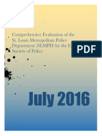 Comprehensive Evaluation of the St. Louis Metropolitan Police Department (SLMPD) by the Ethical Society of Police