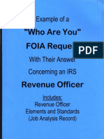 Who Are You-Revenue Officer, Form #09.060