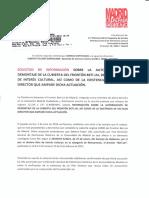 Solicitud de info. a la DGPH sobre el desmontaje de la cubierta del Beti-Jai