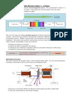 Triple Physics Topic 1 - X-Rays