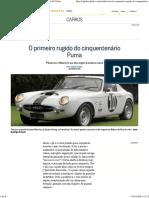 O Primeiro Rugido Do Cinquentenário Puma - Jornal O Globo