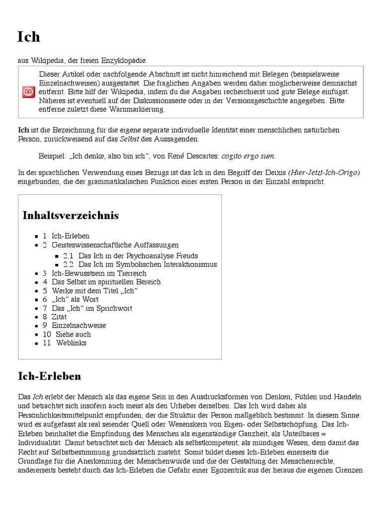 Abwehrmechanismen Freud Beispiele ich – wikipedia