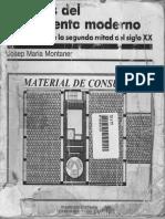 Tema 1. Josep Maria Montaner. Despues Del Movimiento Moderno