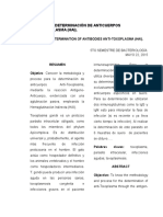 Informe de Toxoplaasma