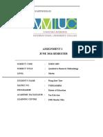 Qualitative Assignment 1