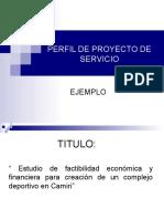 Perfil de Proyecto de Servicio