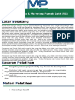 Training Humas & Marketing Rumah Sakit (RS)
