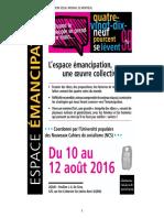Programme de l'université populaire des NCS - version du 7 Juillet 2016
