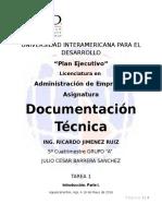 Características e importancia de la buena documentación técnica