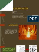 SOLIDIFICACION