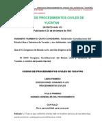 Código de Procedimientos Civiles Yucatán