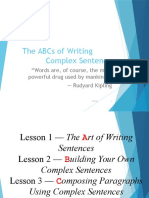 The ABCs of Writing Complex Sentence
