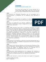 Evolucion de La Calidad y Proden Ecuador