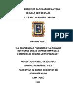 Informe Final. Doctorado. Uigv. Hernandez