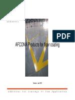 AFCONA Additives for Floor Coating[1]