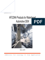 Afcona Additives for Water Based Automotive OEM
