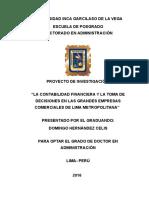 Proyecto de tesis Doctorado en administracion. Hernandez