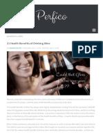 21 Health Benefits of Drinking Wine