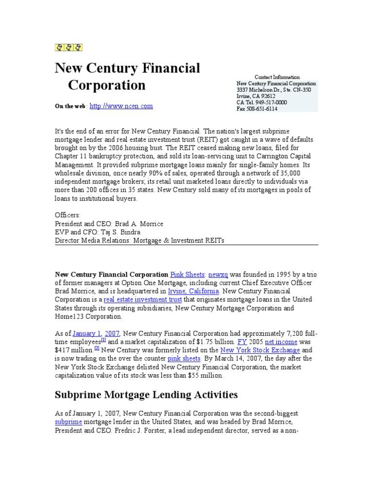 New century mortgage liquidating trust