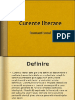 Curente literare - Romantismul