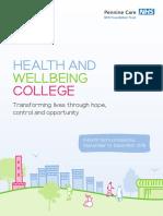 MHMC Health & Wellbeing College Prospectus - Autumn 2016