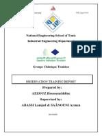 Observation Training Report Gct