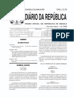 # Lei Protecção Dados Pessoais - Angola