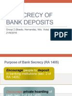 Secrecy of Bank Deposits
