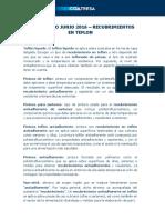 Diccionario Junio 2016 - Recubrimientos en Teflón