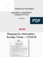 Outa Presentation on SAA