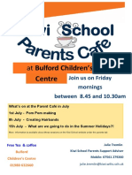 Parents Cafe July 2016