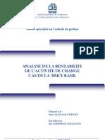 Analyse de la rentabilité de l'activité de change. Cas de la BMCE Bank