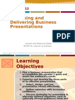 Chapter 13 Designing and Delivering Business Presentations (1)
