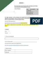 Formulário I - Pesquisas - CONCEA