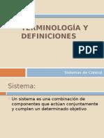 Clase 1 - Terminología y Definiciones